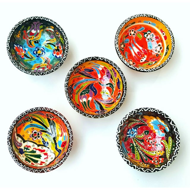 Turkish Tile Bowls - Set of 5 - Image 2 of 4