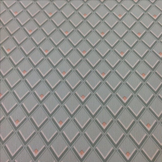 1960s Vintage Petite Diamond Wallpaper - 2 Bolts For Sale - Image 5 of 9