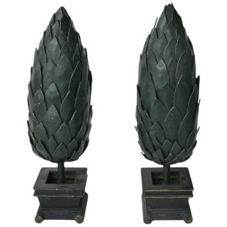 Art Nouveau Versace Commissioned Iron Topiary Sculptures - a Pair For Sale