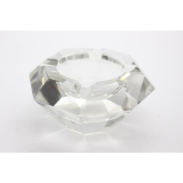 Geometric Lead Crystal Ashtrays - A Pair For Sale - Image 10 of 11