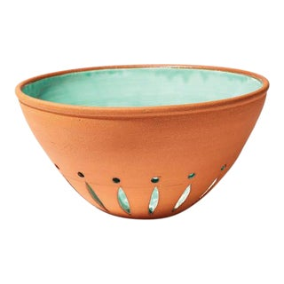 Handmade Berry Bowl from New York Stoneware For Sale