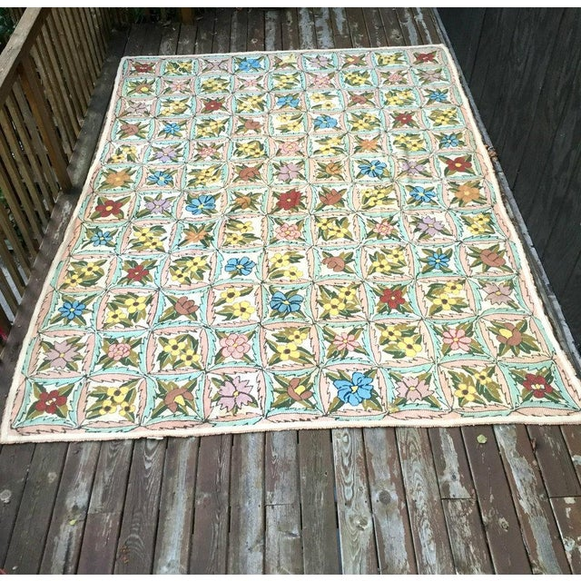 1920s Treasure Chest Mutual Hand-Hooked Rug - 9' x 12' For Sale - Image 5 of 11