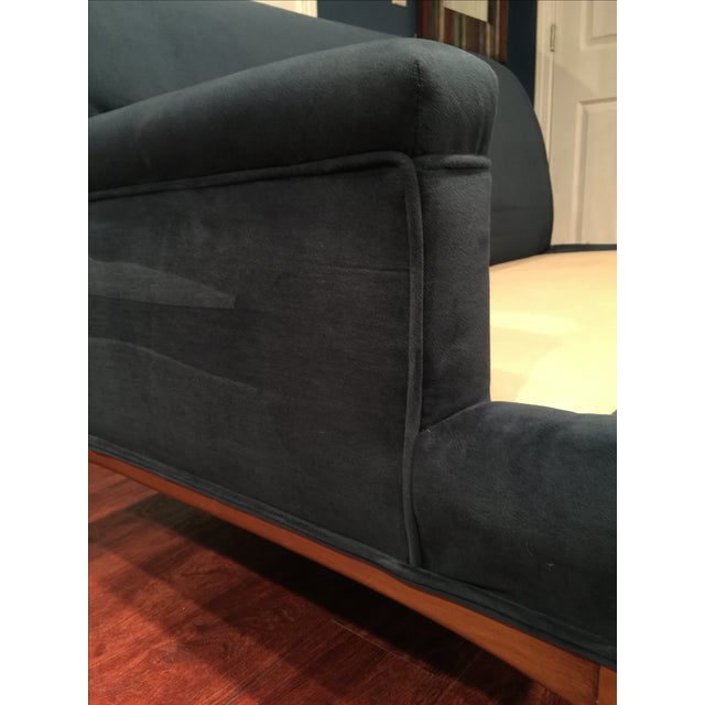 Mid-Century Modern Blue Three-Piece Sectional - Image 5 of 11