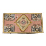 "Image of Hand Knotted Door Mat, Entryway Rug, Bath Mat, Kitchen Decor, Small Rug, Turkish Rug - 1'9"" X 3'4"" For Sale"