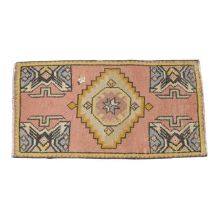 "Hand Knotted Door Mat, Entryway Rug, Bath Mat, Kitchen Decor, Small Rug, Turkish Rug - 1'9"" X 3'4"" For Sale"