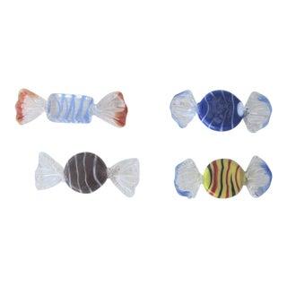 Murano Italian Handblown Glass Candies - Set of 4