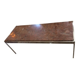 Mid-Century Marble & Chrome Coffee Table