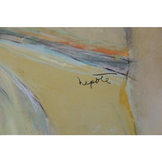 "Alexander Nepote ""Summit Bluff"" Monumental Modernist Landscape C.1970 For Sale - Image 9 of 12"