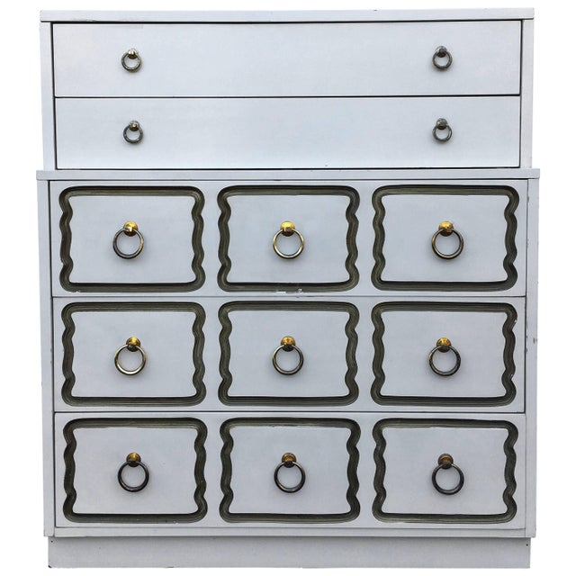 Dorothy Draper Espana Style Hollywood Regency Tall Chest of Drawers For Sale - Image 11 of 11
