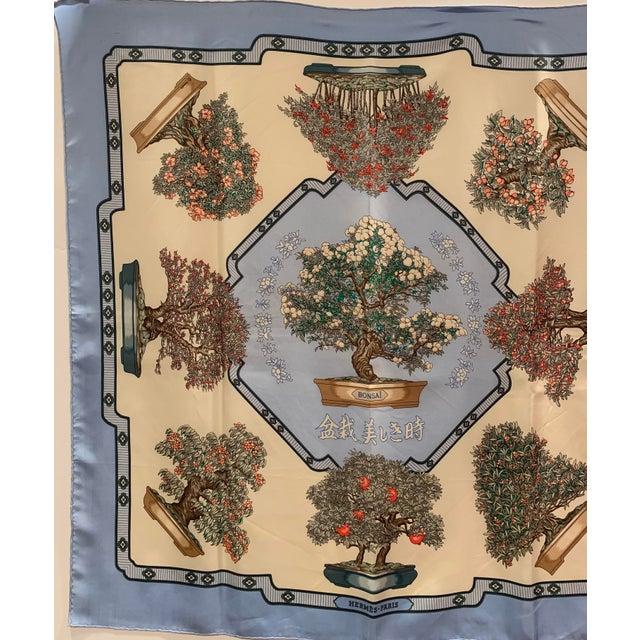 "Late 20th Century Hermès ""Bonsai"" Vintage Silk Scarf For Sale - Image 5 of 6"