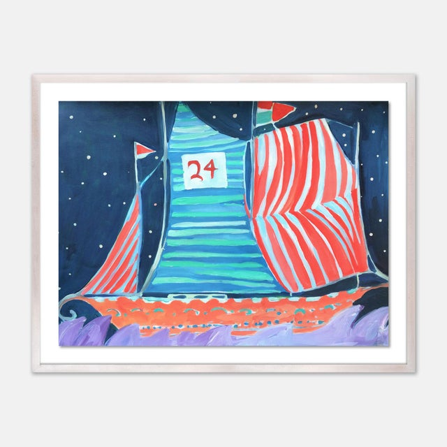 SB Wax Cay by Lulu DK in White Wash Framed Paper, Medium Art Print For Sale - Image 4 of 4