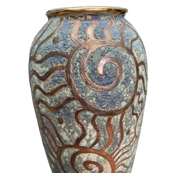 Art Nouveau 1980s Art Pottery Vase For Sale - Image 3 of 6