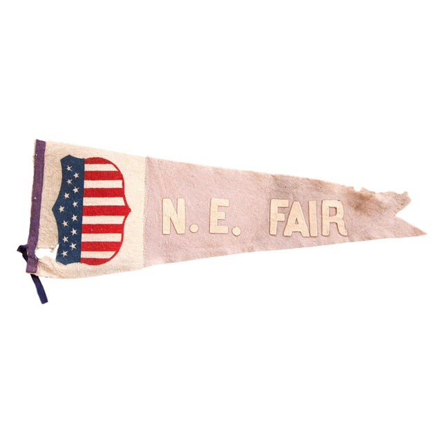 Antique NE Fair Felt Flag Pennant For Sale