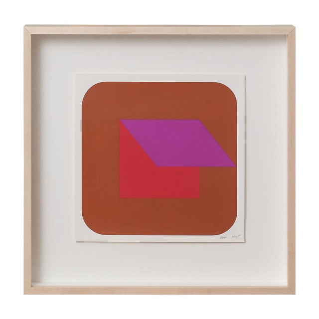Abstract Nine Framed Pfahler Serigraphs For Sale - Image 3 of 13