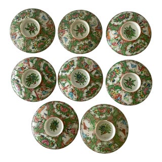1950s Rose Medallion Cup Covers - Set of 8 For Sale