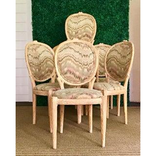 Vintage Louis XVI Faux Bois Side Chairs- Set of 6 Preview