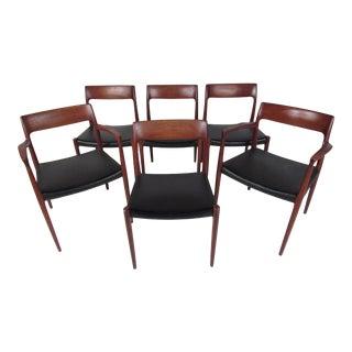 Set of Niels Møller Model #77 Dining Chairs for j.l. Møller For Sale