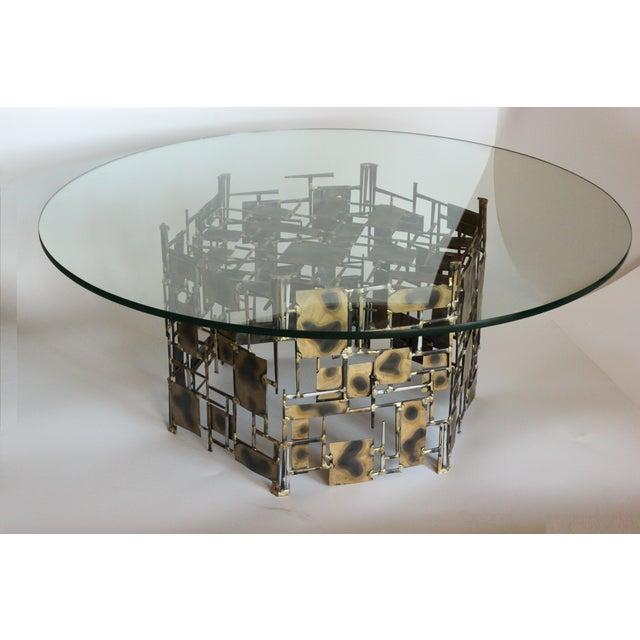 Marc Creates Vintage Brutalist Metal Coffee Table - Image 2 of 8