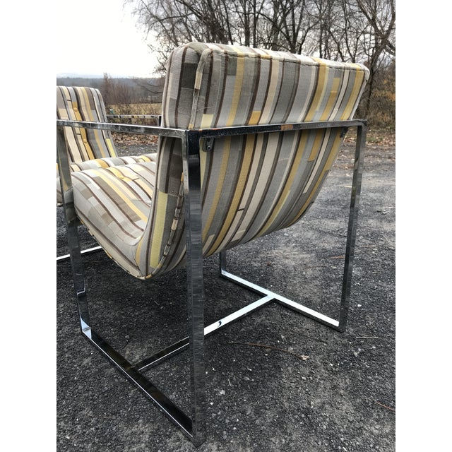 Fantastic Scoop Chairs New Textural Cotton Velvet Silver-Craft For Sale - Image 9 of 13