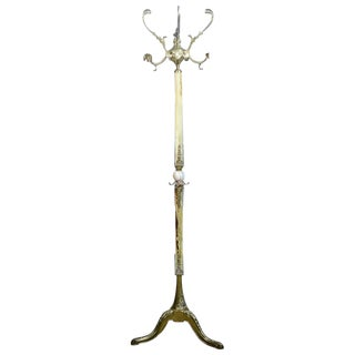 Decorative Coat Stand with Onyx, circa the 1970s-1980s For Sale