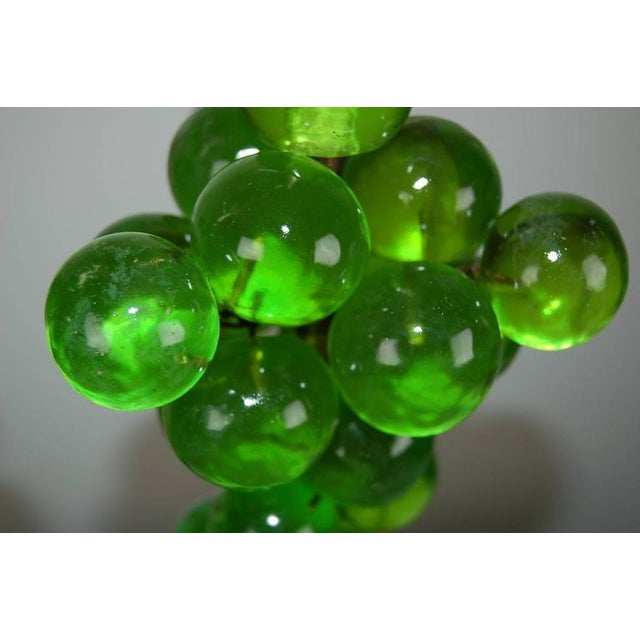 1960s Vintage Bubble Table Lamps by Silvano Pantani, 1966 Lime Green For Sale - Image 5 of 10