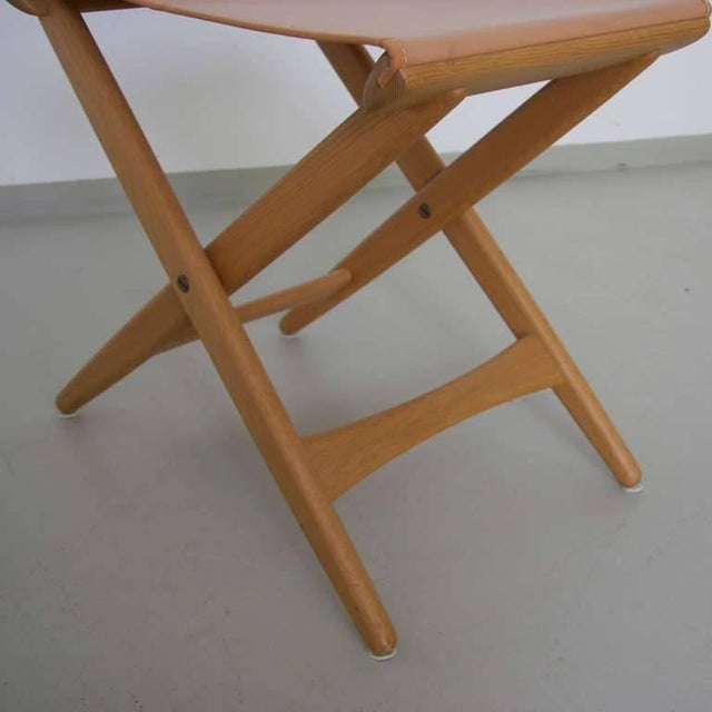 Mid-Century Modern Folding Stool by Uno and Östen Kristiansson for Luxus Vittsjö For Sale - Image 3 of 5