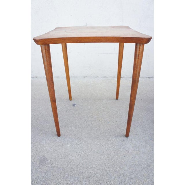 Mid-Century Modern Vintage Oak Occasional Tables- A Pair For Sale - Image 3 of 6