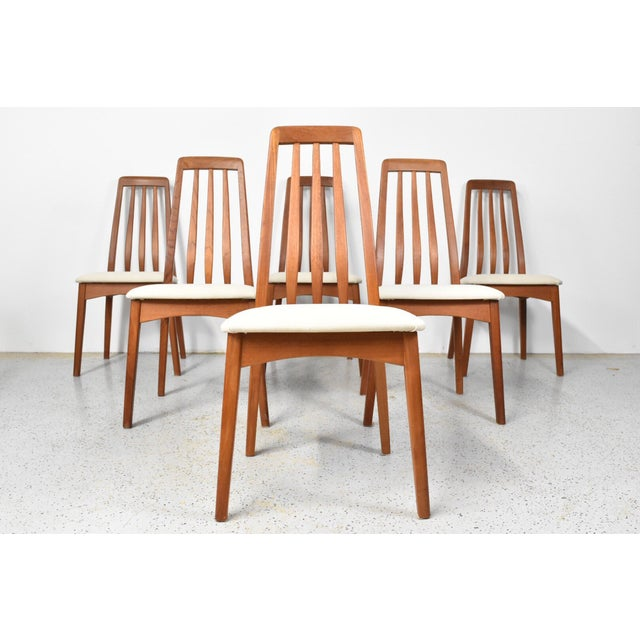 Benny Linden Teak Highback Dining Chairs - 6 - Image 2 of 11