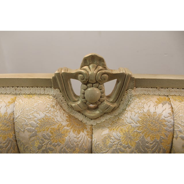 Louis XV French Bergere Tufted Back Chair - Image 10 of 11