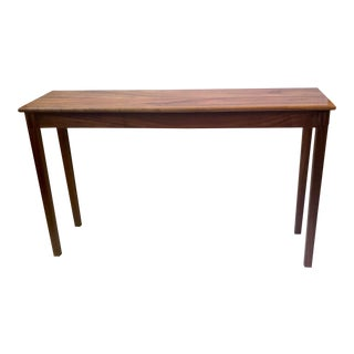 Martin & MacArthur Figured Koa Wood Console Table For Sale