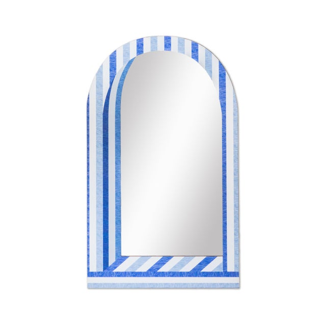 Contemporary Fleur Home x Chairish Palm Orleans Cabana Stripe Short Mirror For Sale - Image 3 of 3