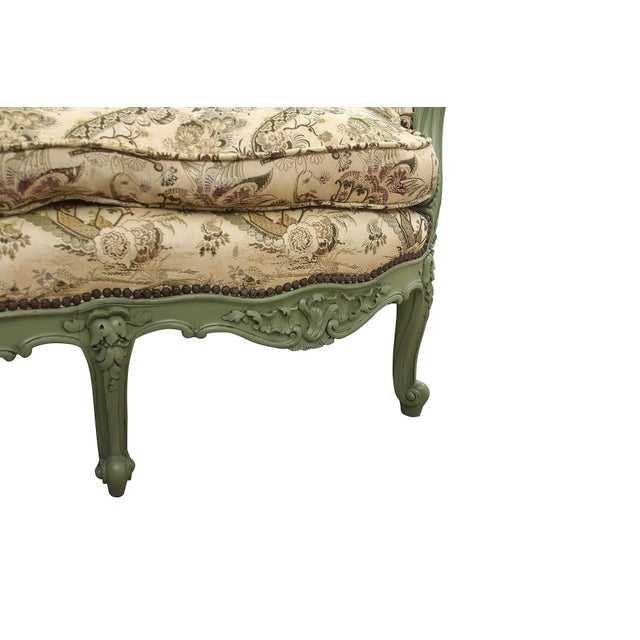 Wood French Rococo Style Settee For Sale - Image 7 of 9