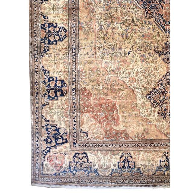 "Type: Kashan Mohtashem Origin: Persia US Size: 13 ' 4 "" x 23 ' 10 "" Circa: 1900 Metric Size: 4.06 x 7.26 meters"
