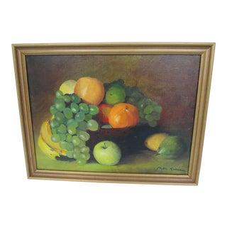 Vintage Still Life of Fruit For Sale
