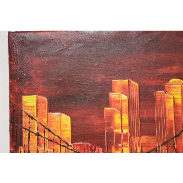 Impressionist New York City Impressionist Oil Painting For Sale - Image 3 of 7