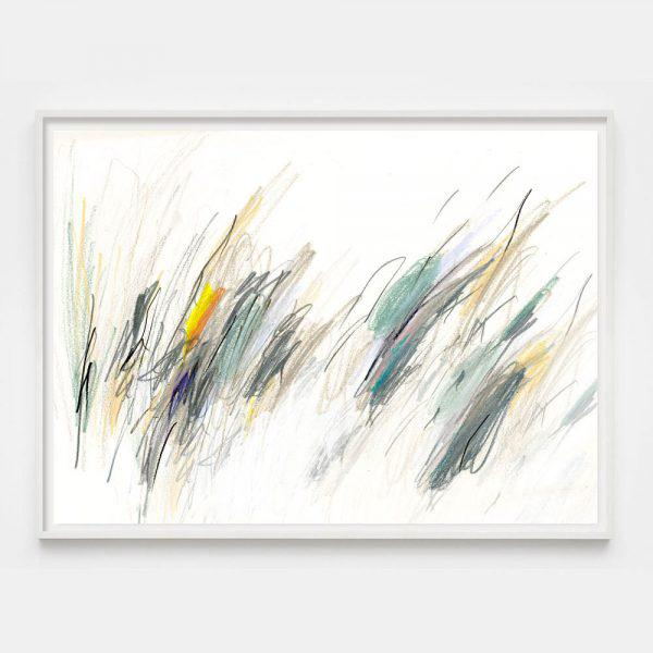 """Abstract Expressionism """"Blue Notes #4"""" Unframed Print For Sale - Image 3 of 3"""