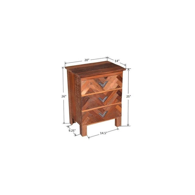 Contemporary Emelia Wooden Bedside Table For Sale In Dallas - Image 6 of 7