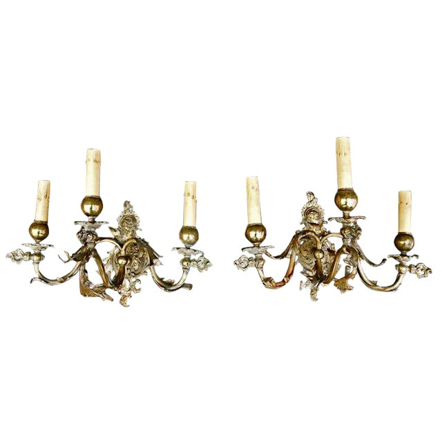 French 19th Century Sconces - a Pair For Sale