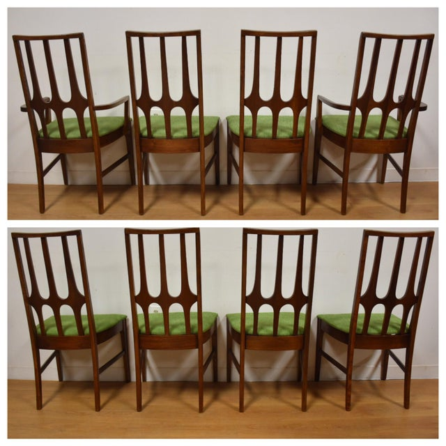 Broyhill Brasilia Walnut Dining Chairs - Set of 8 - Image 4 of 11