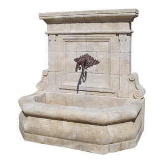 Limestone Wall Fountain From the Vaucluse, Provence France For Sale