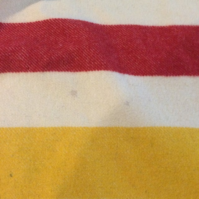 Vintage Hudson Bay Point Blanket - Image 6 of 9