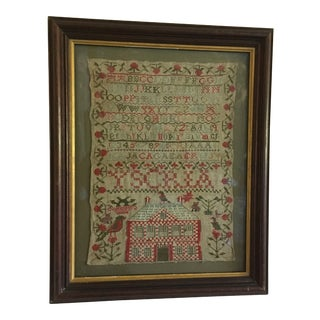 1830 Antique Sampler For Sale