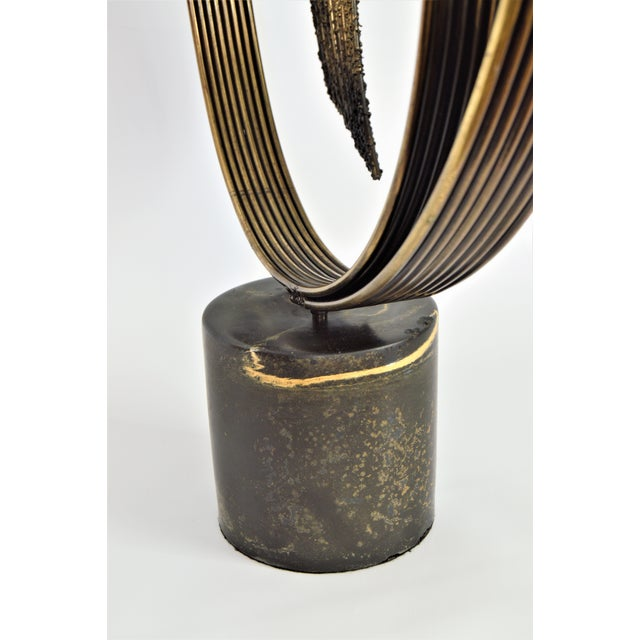 Curtis C. Jere Mid-Century Modern Vintage Brass Brutalist Kinetic Table Sculpture MCM Millennial - Image 11 of 11
