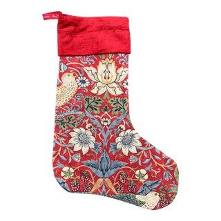 "William Morris ""Strawberry Thief"" Christmas Stocking For Sale"