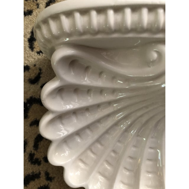 Hollywood Regency Italian Shell Cartouche Wall Brackets - a Pair For Sale - Image 3 of 5
