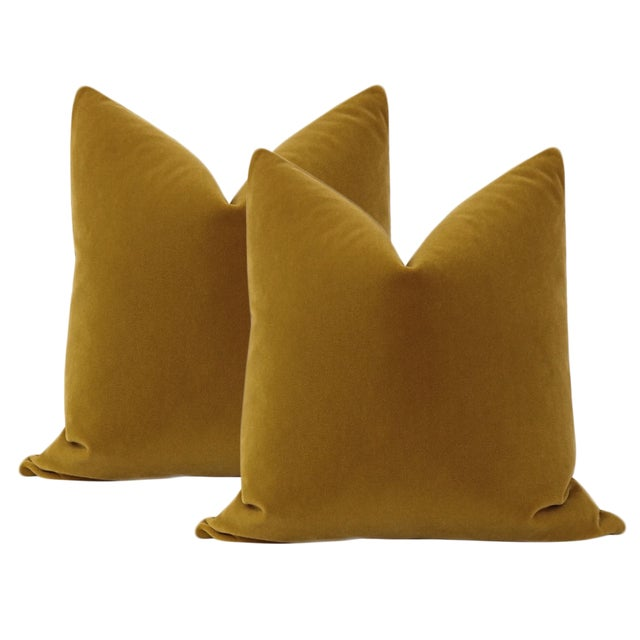 "Not Yet Made - Made To Order 22"" Bourbon Mohair Velvet Pillows - a Pair For Sale - Image 5 of 5"