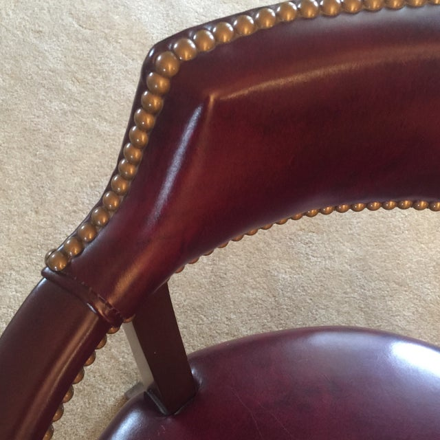 hancock moore leather captain s chair chairish