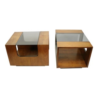 Mid Century Lane End Side Tables - a Pair For Sale