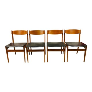 Mid-Century Danish Teak Dining Chairs - Set of 4 For Sale