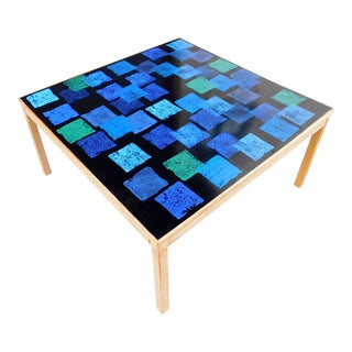 1968 Mid-Century Modern Enamel Top Coffee Table, Per Törneman for Nk Stockholm For Sale